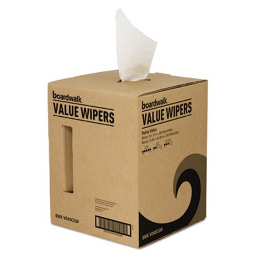 Boardwalk DRC Wipers  White  10 x 12  Centerpull  200 Box (BWKV040CGW)