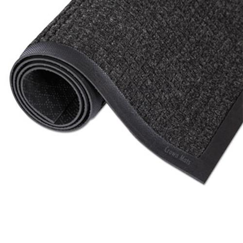 Crown Super-Soaker Wiper Mat with Gripper Bottom  Polypropylene  24 x 36  Charcoal (CWNSSR023CH)