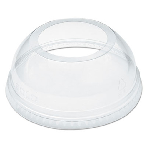 Dart Open-Top Dome Lid for 16-24 oz Plastic Cups  Clear  1 9 Dia Hole  1000 Carton (DCCDLW626)