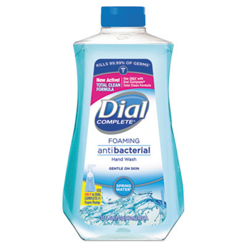 Dial Antibacterial Foaming Hand Wash Spring Water Scent, 32 oz Bottle, 6/Carton (DIA09027CT)