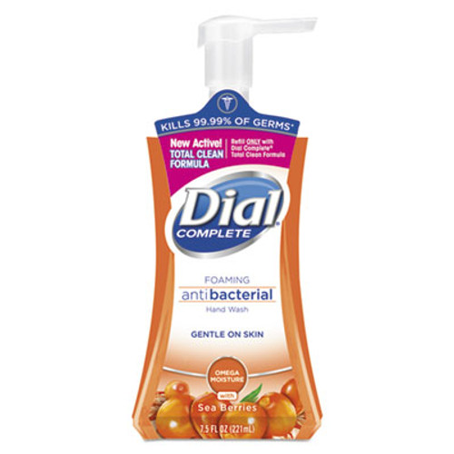 Dial Antibacterial Foaming Hand Wash, Sea Berries, 7.5 oz Pump Bottle, 8/Carton (DIA12015CT)