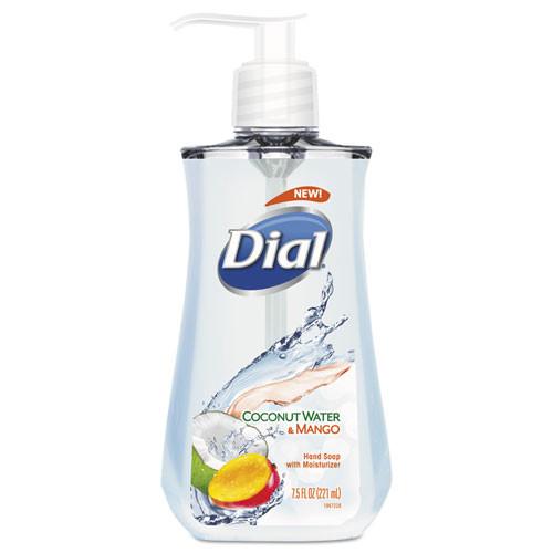 Dial Liquid Hand Soap  7 1 2 oz Pump Bottle  Coconut Water and Mango 12 Carton (DIA12159CT)