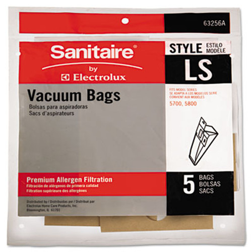 Sanitaire Commercial Upright Vacuum Cleaner Replacement Bags  Style LS  5 Pack  10 PK CT (EUR63256A10CT)