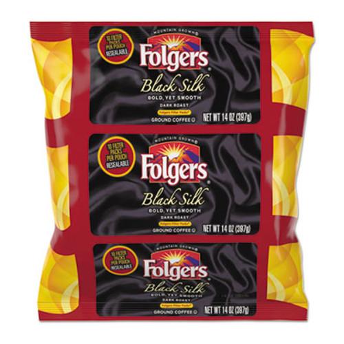 Folgers Coffee Filter Packs  Black Silk  1 4 oz Pack  40Packs Carton (FOL00016)