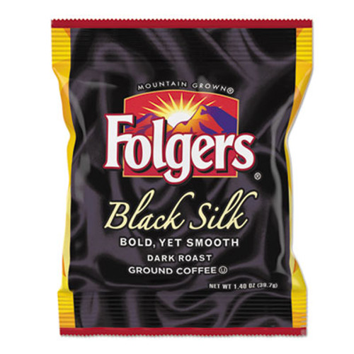 Folgers Coffee  Black Silk  1 4 oz Packet  42 Carton (FOL00019)