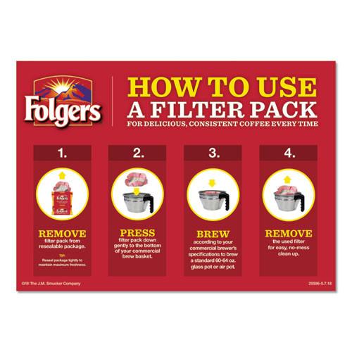 Folgers Coffee Filter Packs  Classic Roast  1 4 oz Pack  40 Carton (FOL10117)