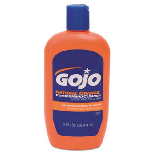 GOJO NATURAL ORANGE Pumice Hand Cleaner  Citrus  14 oz Bottle  12 Carton (GOJ095712CT)