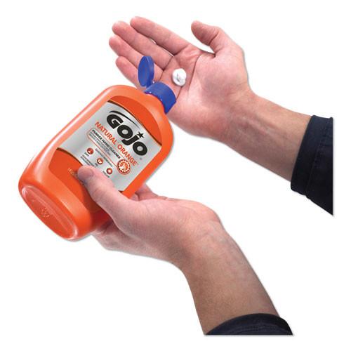 GOJO NATURAL ORANGE Pumice Hand Cleaner  Citrus  14 oz Bottle  12 Carton (GOJ095712CT)