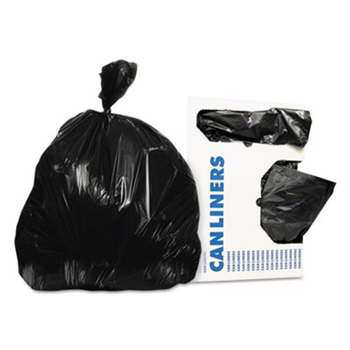 Heritage Low-Density Can Liners, 20-30 gal, 0.5 mil, 30 x 36, Black, 250/Carton (HERH6036MK)