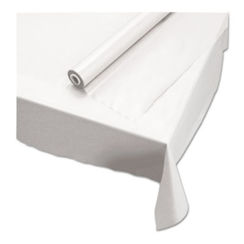 Hoffmaster Plastic Roll Tablecover  40  x 100 ft  White (HFM113000)