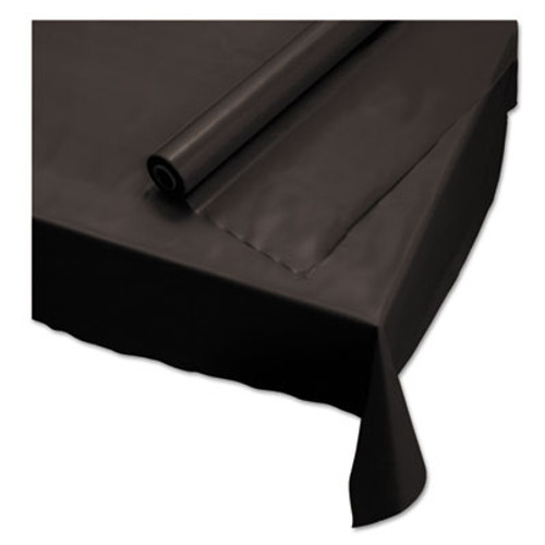 Hoffmaster Plastic Roll Tablecover  40  x 100 ft  Black (HFM113003)