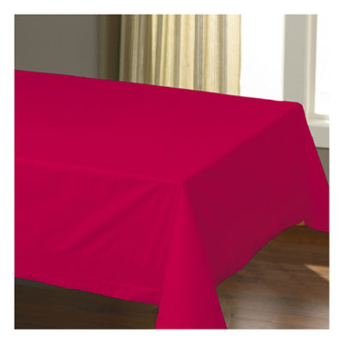 "Hoffmaster Cellutex Table Covers, Tissue/Polylined, 54"" x 108"", Red, 25/Carton (HFM220611)"
