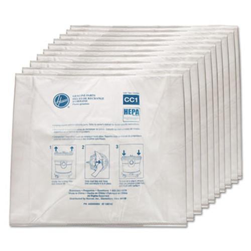 Hoover Commercial Disposable Vacuum Bags  Hepa CC1  10PK EA (HVRAH10363)
