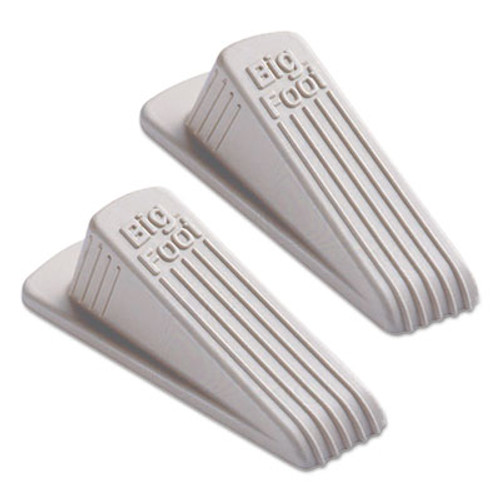 Master Caster Big Foot Doorstop  No Slip Rubber Wedge  2 25w x 4 75d x 1 25h  Beige  2 Pack (MAS00975)