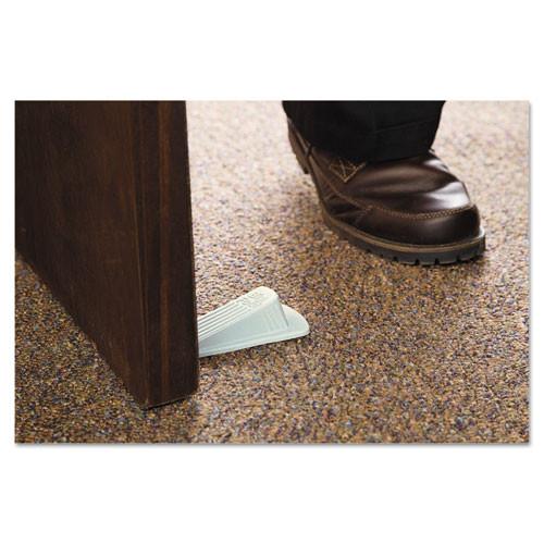 Master Caster Big Foot Doorstop  No Slip Rubber Wedge  2 25w x 4 75d x 1 25h  Beige  2 Pack (MAS00975)