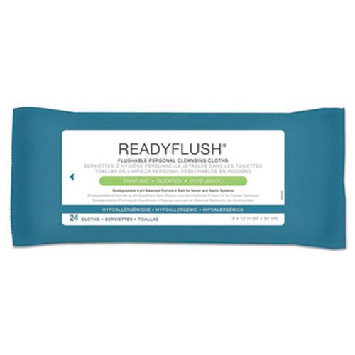 Medline ReadyFlush Biodegradable Flushable Wipes  8 x 12  24 Pack (MIIMSC263810)