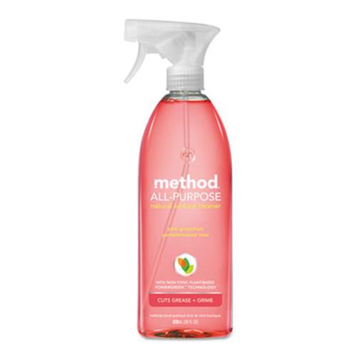 Method All Surface Cleaner, Pink Grapefruit, 28 oz Bottle, 8/Carton (MTH00010CT)