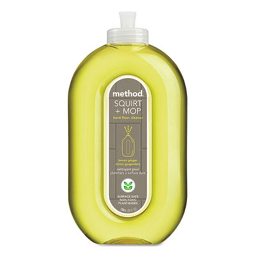 Method Squirt + Mop Hard Floor Cleaner, 25 oz Spray Bottle, Lemon Ginger, 6/Carton (MTH00563CT)