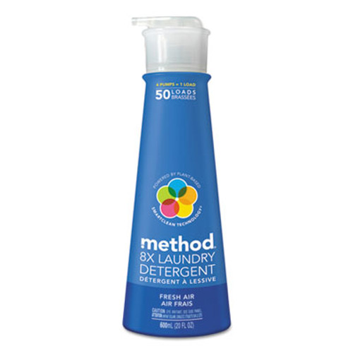 Method 8X Laundry Detergent, Fresh Air, 20 oz Bottle, 6/Carton (MTH01127CT)