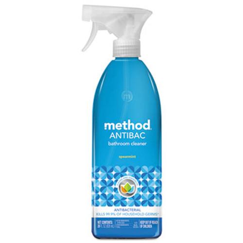 Method Antibacterial Spray  Bathroom  Spearmint  28 oz Bottle  8 Carton (MTH01152CT)