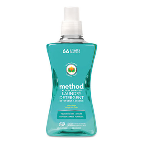 Method 4X Concentrated Laundry Detergent  Beach Sage  53 5 oz Bottle  4 Carton (MTH01489)