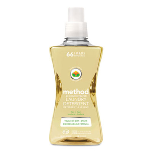 Method 4X Concentrated Laundry Detergent, Free & Clear, 53.5 oz Bottle (MTH01491EA)