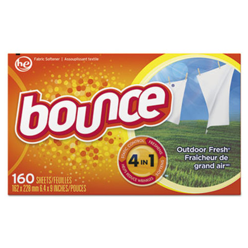 Bounce Fabric Softener Sheets  Outdoor Fresh  160 Sheets Box (PGC80168BX)