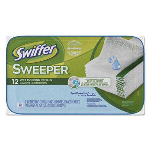 Swiffer Wet Refill Cloths  Open Window Fresh  Cloth  White  8 x 10  12 Tub (PGC95531PK)