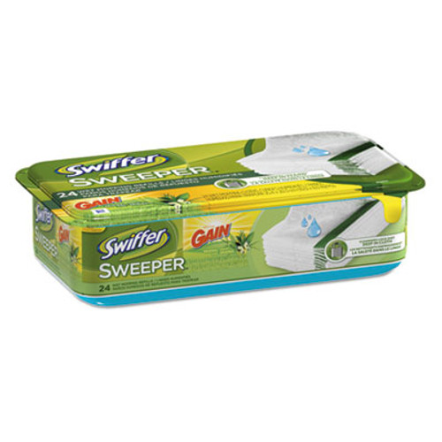 Swiffer Wet Refill Cloths  Gain Original Scent  White  8 x 10  24 Pack  6 Pack Carton (PGC95532CT)