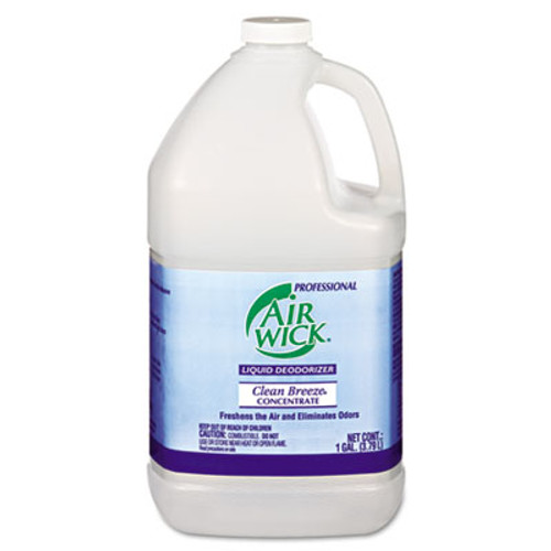 Professional Air Wick Liquid Deodorizer  Clean Breeze  1 gal  Concentrate (RAC06732EA)