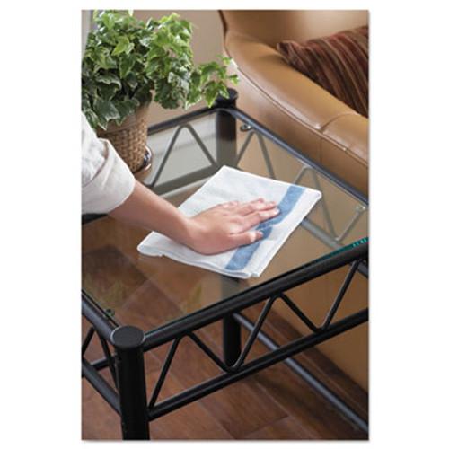 Rubbermaid Commercial HYGEN HYGEN Sanitizer Safe Microfiber Cloth  16 x 19  White Blue  24 Pack (RCP1805728PK)