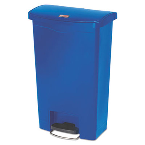 Rubbermaid Commercial Slim Jim Resin Step-On Container  Front Step Style  13 gal  Blue (RCP1883593)