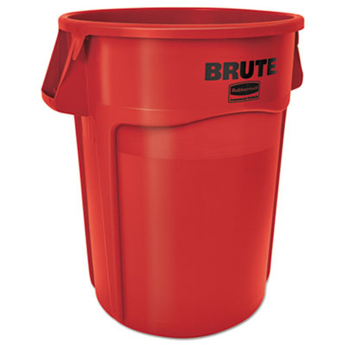 Rubbermaid Commercial Brute Vented Trash Receptacle  Round  44 gal  Red (RCP264360REDEA)