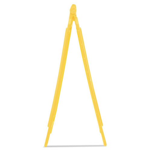 Rubbermaid Commercial Caution Wet Floor Floor Sign  Plastic  11 x 12 x 25  Bright Yellow  6 Carton (RCP611277YWCT)