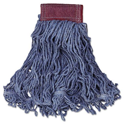 Rubbermaid Commercial Super Stitch Blend Mop Head  Large  Cotton Synthetic  Blue (RCPD253BLUEA)