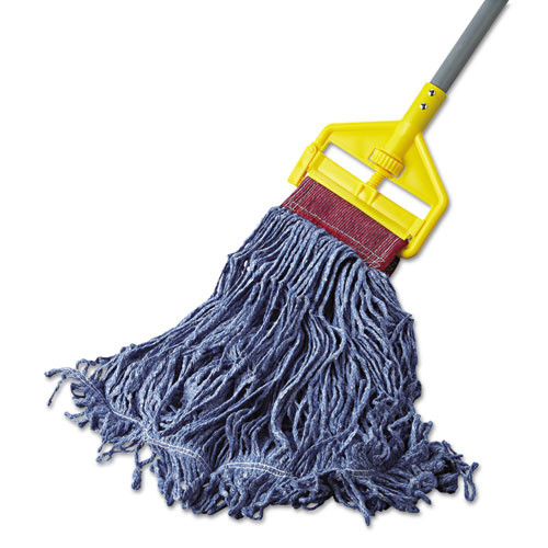 Rubbermaid Commercial Super Stitch Blend Mop Head  Large  Cotton Synthetic  Blue (RCPD253BLUEA)