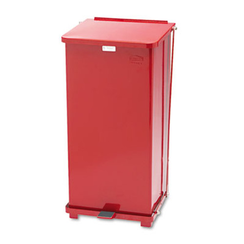 Rubbermaid Commercial Defenders Biohazard Step Can  Square  Steel  24 gal  Red (RCPST24EPLRD)