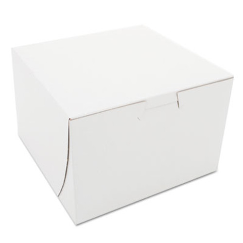 SCT Non-Window Bakery Boxes  Paperboard  6 x 6 x 4  White  250 Bundle (SCH0909)