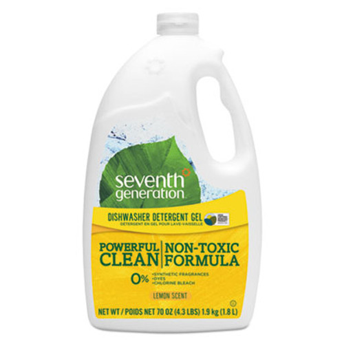 Seventh Generation Natural Automatic Dishwasher Gel, Lemon, Jumbo 70 oz Bottle (SEV22831)