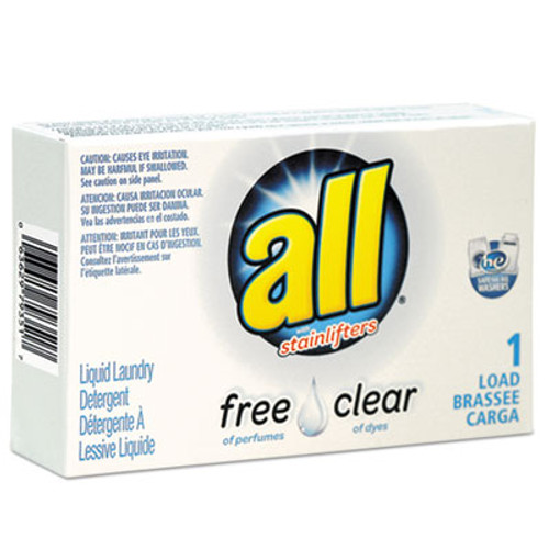 All Free Clear HE Liquid Laundry Detergent  Unscented  1 6 oz Vend-Box  100 Carton (VEN2979351)