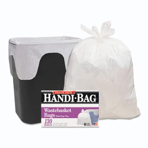 Handi-Bag Super Value Pack  8 gal  0 6 mil  22  x 24   White  780 Carton (WBIHAB6FW130CT)