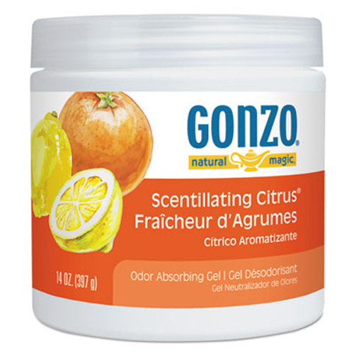 Natural Magic Odor Absorbing Gel, Scentillating Citrus, 14 oz Jar, 12/Carton (WMN4119D)