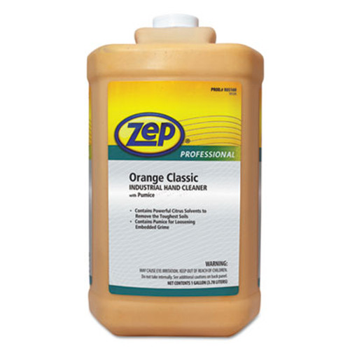 Zep Professional Industrial Hand Cleaner, Gel, Orange, 1 gal Bottle, 4/Carton (ZPE1046475)