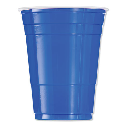 Dart Solo Plastic Party Cold Cups  16oz  Blue  50 Bag  20 Bags Carton (DCCP16B)