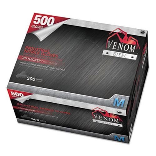 Medline Venom Steel Industrial Nitrile Gloves  Medium  Black  6 mil  500 Box (MIIVEN6542)