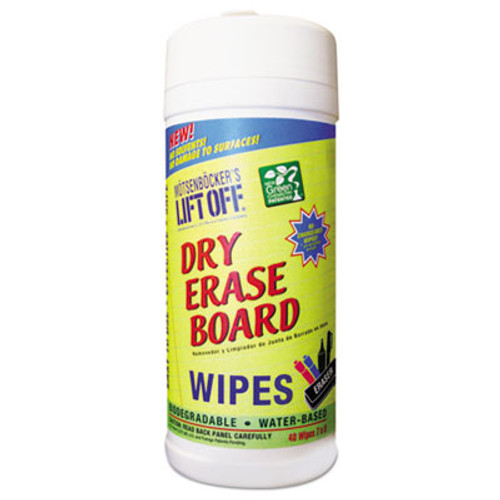 Motsenbocker's Lift-Off Dry Erase Cleaner Wipes  Cloth  7 x 12  40 Canister  6 Canisters Carton (MOT42703CT)