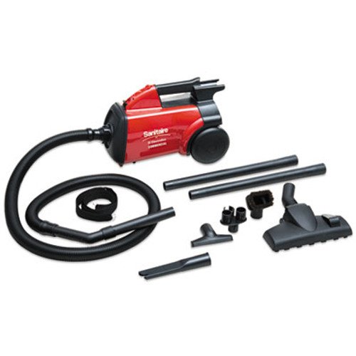 Sanitaire Commercial Compact Canister Vacuum, 10lb, Red (EURSC3683B)