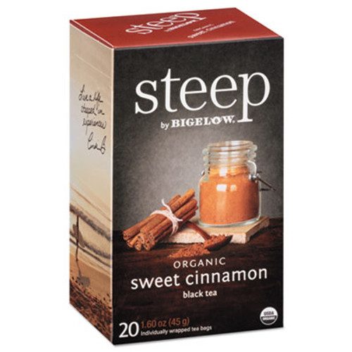 Bigelow steep Tea, Sweet Cinnamon Black Tea, 1.6 oz Tea Bag, 20/Box (BTC17712)