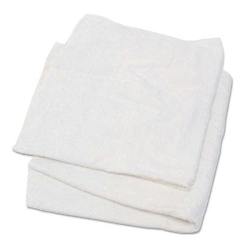 Hospital Specialty Co. Woven Terry Rags, White, 15 x 17, 25 lb Box, 170/Carton (HOS53725)