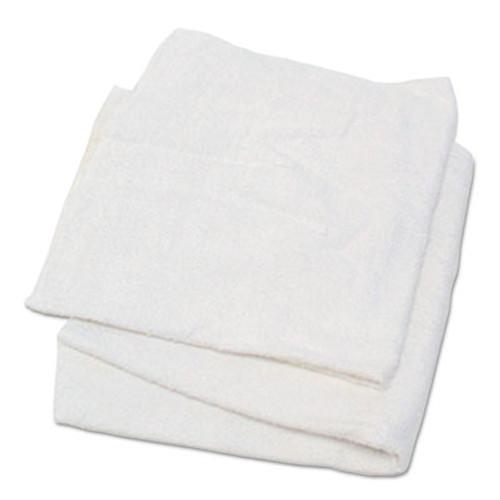 HOSPECO Woven Terry Rags  White  15 x 17  25 lb Carton (HOS53725)